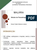 Apresentação Módulo Parasito - Malária