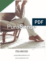 PuraSense Ultrasonic Mister Steamer Humidifier Model PS-HM100