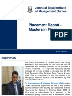 Placement Report - Masters in Finance
