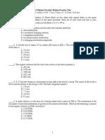 Circular Practice Test