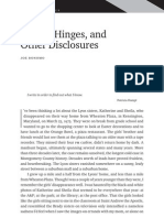 Seams, Hinges, and other Disclosures