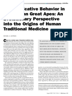 Self-Medicative Behavior in the African Great Apes