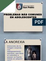 PROBLEMAS MÁS COMUNES  EN ADOLESCENTES
