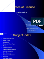 3 Sources of Finance