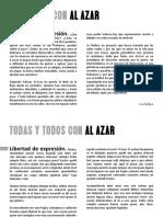 Todos Con Alazar Libro Sobre La Caida de La Pasarela en El Carnaval de Oruro