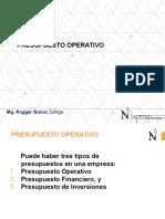 Presupuesto Operativo de Produccion y Ventas Set 2016