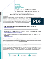IPSF Regional Event Grant Application 2016-2017
