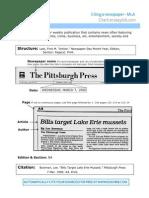Newspaper - MLA