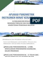 218336650 Psikometrik Inventori Minat Kerjaya Sidek IMKS