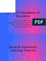 Social Humanistic Learning Theories