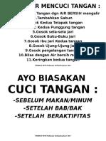 Phbs Cara Cuci Tangan Poster