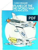 Airplanes of the Second Word War Colouring Book