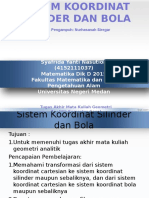 Sistem Koordinat Silinder Dan Bola