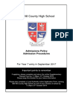 Admissions Policy Admission Procedures 20172