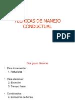 Técnicas de manejo conductual