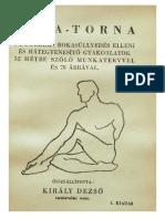 Király Dezső - Jóga-Torna 1944 Terjéki Rudolf - Jóga És Az Egészség