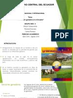 Produccion Ganadera Del Ecuador