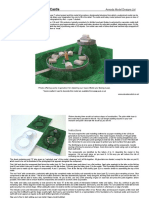 Base for Motte and Bailey Castle Paper Card Model Armada Models Sm04b-16