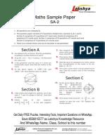 Maths 10th Sample Paper