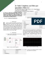 Rectificación de Onda Completa con Filtro por Capacidad y Filtro LC