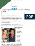 Aseguran Que Sean Penn Traicionó a Kate Del Castillo