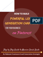 How to Build Powerful Lead Generation Channels for Your Business on Pinterest