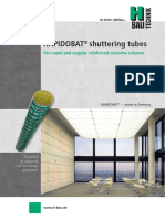 RAPIDOBAT® shuttering tubes