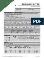 Böhler Fox S EV 50-1_Datasheet