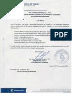 Certificado universidad