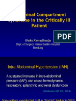 Abdominal Compartement Syndrome