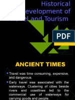 Historical Development of Travel and Tourism