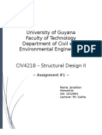 CIV4218 - Assignment #1 - Methods of Design