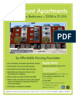 Fairmount Apartments Flier