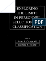 Campbel & Knapp - Exploring the Limits in Personnel Selection and Classification