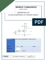 Circuito Amplificador Con Transistor Bipolar