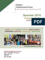 Kits House Program Guide- Summer2010