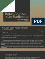 Tugas Analisa Iklan Radio Ghazian Advertising Universitas Indonesia