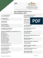 Delegate List