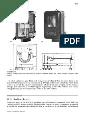 Buchholz Relay Notes | Relay | Transformer