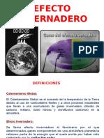 3) EFECTO INVERNADERO