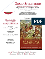 Good Shepherd American National Catholic Church Weekly Bulletin