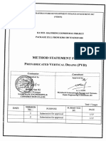 Method Statement for Soft Soil Treatment (PVD)