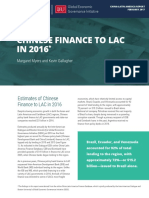 CHINESE FINANCE TO LAC IN 2016