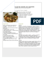 Receita de Caril de Camarão Com Cogumelos