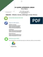 AULA 02 - Alfabeto Manual, Datilologia e Sinais Rítmicos