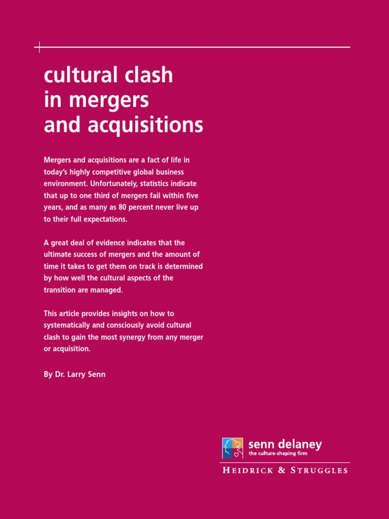 Senndelaney Cultureclash Uk Mergers And Acquisitions Att Mobility