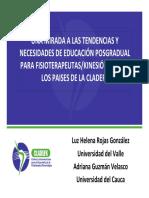 Una Mirada a Las Tendencias Educacion Posgradual Fisioterapia Cladefk
