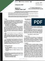 Astm d621 Deformacion Plastica