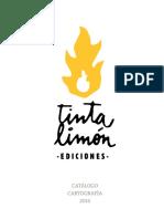 CATALOGO 2015 2016 Tinta Limn Ediciones