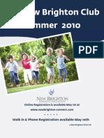 New Brighton 2010 Summer Programs